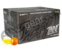 D3FY Sports Level 1 Practice 500 Round Paintballs - Orange/Yellow Shell Yellow Fill ( .68 Caliber )