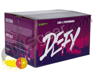D3FY Sports Level 1 Practice 500 Round Paintballs - Yellow Fill ( .68 Caliber )
