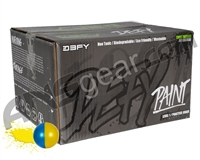 D3FY Sports Level 1 Practice 2,000 Round Paintball Case - Yellow/Blue Shell Yellow Fill ( .68 Caliber )