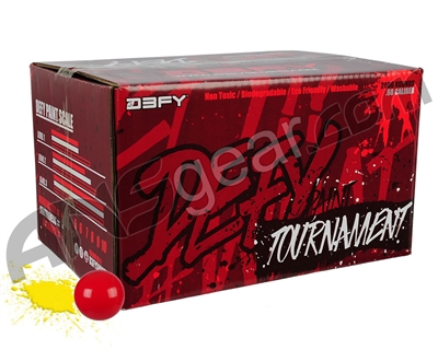 D3FY Sports Tournament 100 Round Paintballs - Red Shell Yellow Fill ( .68 Caliber )