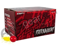 D3FY Sports Tournament 1,000 Round Paintballs - Red Shell Yellow Fill ( .68 Caliber )