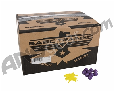DXS Basic Training 2,000 Round Paintball Case - Yellow Fill ( .68 Caliber )