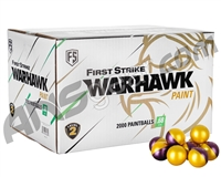 First Strike Warhawk 2,000 Round Paintball Case - Yellow Fill ( .68 Caliber )