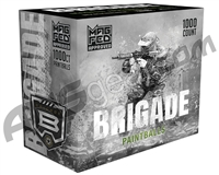 GI Sportz Brigade 1,000 Round Paintballs For Magfed - Grey Shell/Pink Fill ( .68 Caliber )
