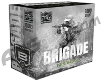 GI Sportz Brigade 1,000 Round Paintballs For Magfed - Silver Shell/Neon Green Fill ( .68 Caliber )