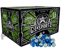 GI Sportz 2 Star 1,000 Round Paintballs - Light Blue Fill ( .68 Caliber )
