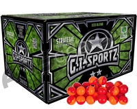 GI Sportz 2 Star 100 Round Paintballs - Orange Fill ( .68 Caliber )