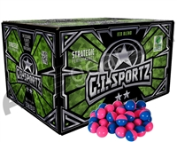 GI Sportz 2 Star 1,000 Round Paintballs - Pink Fill ( .68 Caliber )