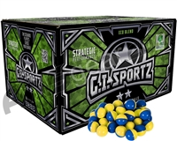 GI Sportz 2 Star 1,000 Round Paintballs - Yellow Fill ( .68 Caliber )