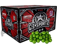 GI Sportz 3 Star 1,000 Round Paintballs - Green Fill ( .68 Caliber )