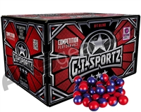 GI Sportz 3 Star 500 Round Paintballs - Ruby/Imperial Shell Yellow Fill ( .68 Caliber )