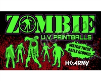 HK Army Zombie Ultra Violet Paintballs Case 500 Rounds