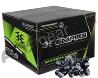 Empire Marballizer 1,000 Round Paintballs - Black/White Swirl Shell w/ White Fill ( .68 Caliber )