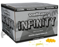 Valken Infinity 1,000 Round Paintballs - Yellow Fill ( .68 Caliber )