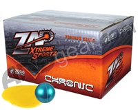 ZAP Chronic 2,000 Round Paintball Case - Sapphire/Sapphire Shell Yellow Fill ( .68 Caliber )