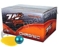 ZAP Chronic 500 Round Paintball Case - Sapphire/Sapphire Shell Yellow Fill ( .68 Caliber )