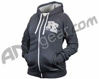 Planet Eclipse 2014 Womens Varsity Zip Hooded Sweatshirt - Charcoal