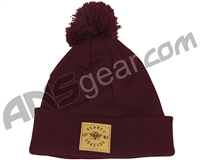 Planet Eclipse Worker Pom Beanie - Burgundy