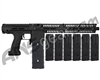 Planet Eclipse EMEK MG100 (PAL Enabled) Mag Fed Paintball Gun - Black w/ 6 Additional (20 Round) Magazines