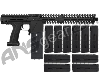 Planet Eclipse EMEK MF100 (PAL Enabled) Mag Fed Paintball Gun - Black w/ 10 Additional (20 Round) Magazines - Black