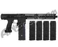 Planet Eclipse EMEK MF100 (PAL Enabled) Mag Fed Paintball Gun - Black w/ 4 Additional (20 Round) Magazines - Black