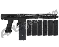 Planet Eclipse EMEK MF100 (PAL Enabled) Mag Fed Paintball Gun - Black w/ 6 Additional (20 Round) Magazines - Black