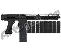 Planet Eclipse EMEK MF100 (PAL Enabled) Mag Fed Paintball Gun - Black w/ 8 Additional (20 Round) Magazines - Black