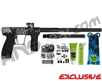 Planet Eclipse Geo CS2 Paintball Gun - Laser Engraved Death - Midnight