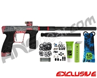 Planet Eclipse Geo CS2 Paintball Gun - Laser Engraved Maui - Black/Red