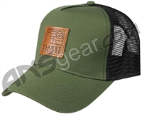 Planet Eclipse Horizon Snap Back Hat - Olive/Black