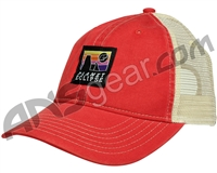 Planet Eclipse Horizon Snap Back Hat - Red/Ivory