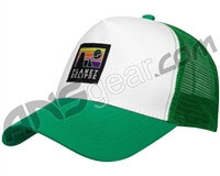 Planet Eclipse Horizon Snap Back Hat - White/Pure Green
