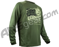 Planet Eclipse Men's 2015 Long Sleeve Brawler T-Shirt - Olive