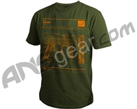 Planet Eclipse CS1 Men's T-Shirt - Olive