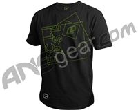 Planet Eclipse Hypno Men's T-Shirt - Black