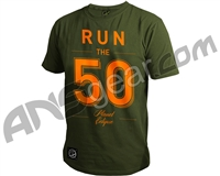 Planet Eclipse Run Men's T-Shirt - Olive