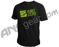 Planet Eclipse Stencil Men's T-Shirt - Black