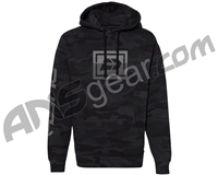 Push Sliced Hooded Pull Over Sweatshirt - Black Camo