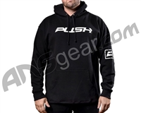 Push Traditional Hooded Pull Over Sweatshirt - Black