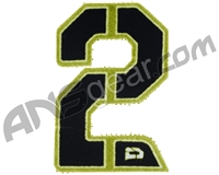 Push Division Velcro Number Patch #2 - Lime