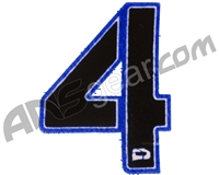 Push Division Velcro Number Patch #4 - Blue