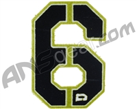 Push Division Velcro Number Patch #6 - Lime