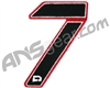 Push Division Velcro Number Patch #7 - Red