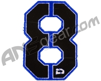Push Division Velcro Number Patch #8 - Blue