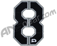 Push Division Velcro Number Patch #8 - Grey