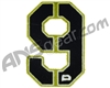 Push Division Velcro Number Patch #9 - Lime