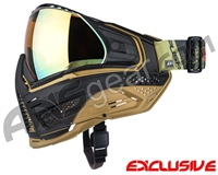Limited Edition Push Unite XL Paintball Mask w/ Revo Lens & Carbon Fiber Goggle Case - Black Dragon