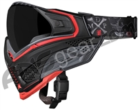 Push Unite Paintball Mask w/ Revo Lens - MDP LE Grey/Red