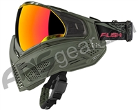 Push Unite Paintball Mask w/ Revo Lens - Olive/Olive
