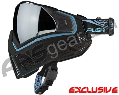 Push Unite Mask - Black/Blue w/ Chrome Silver Lens